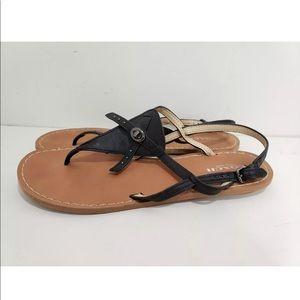 Coach Camara Black Sandals Womens Size 7.5